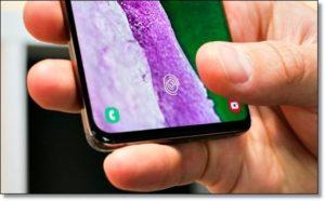 Наэкранный сканер отпечатка пальцев