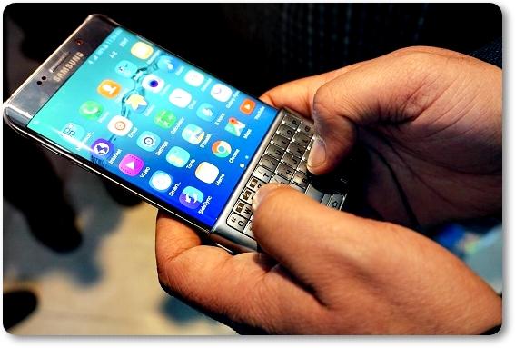 Набор текста на телефоне SAMSUNG