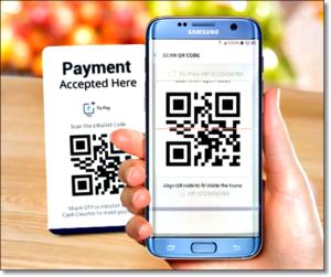 Фото смартфона Samsung, сканирующий QR-код