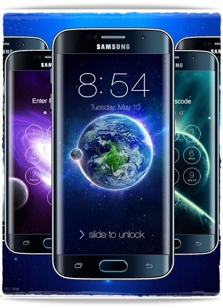 Экран блокировки смартфона Samsung