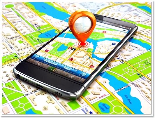 """Приложение """"Навигатор"""" на экране смартфона"""