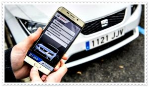 Смартфон Samsung и автомобиль