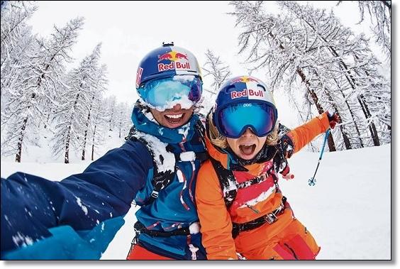 Селфи лыжников