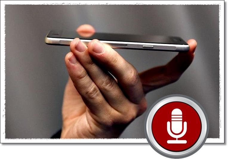 Запись на диктофон смартфона.