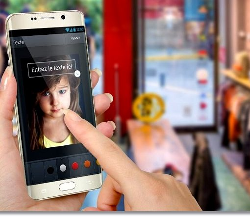 Фото наших детей на смартфоне
