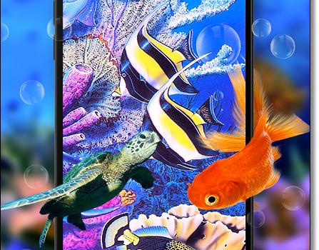 Рыбки выпрыгнули из экрана смартфона