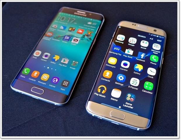 Экраны двух смартфонов с разной сеткой
