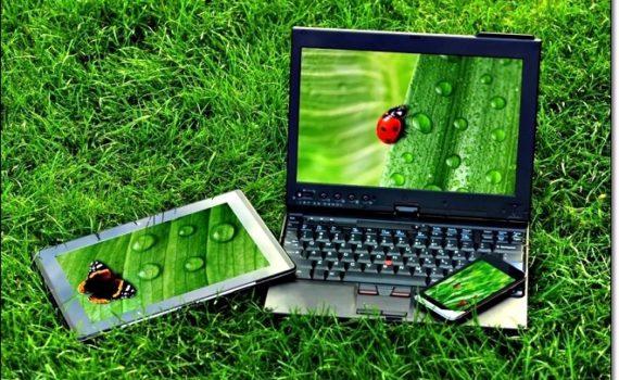 Ноутбук, смартфон и планшет