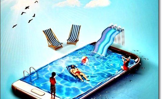 Смартфон на отдыхе