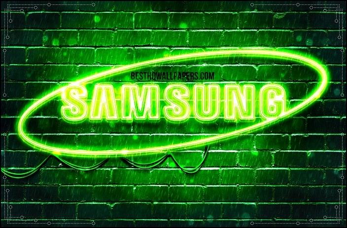Зелёный неон с логотипом