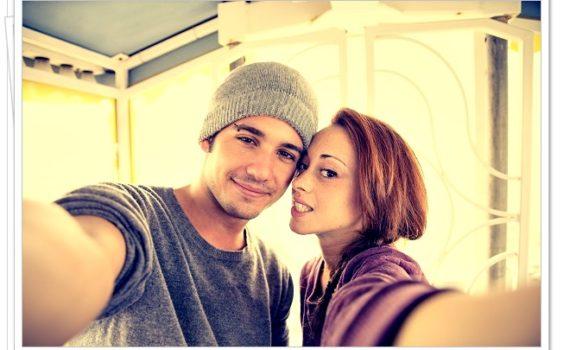 Селфи молодой пары