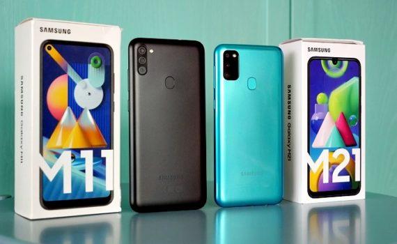 Два Samsung Galaxy M11 и M21