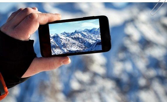 Съёмка на смартфон в горах