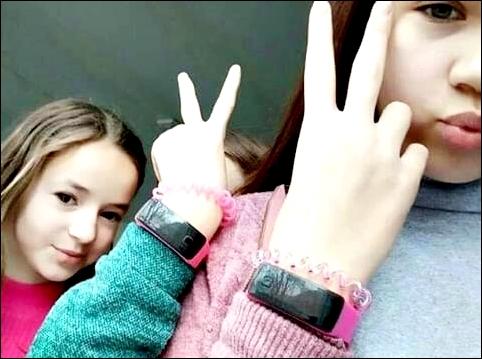 Три девчёнки с браслетами